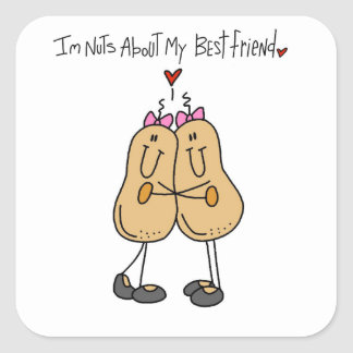 Nuts About My Best Friend T-shirts and Gifts Square Sticker