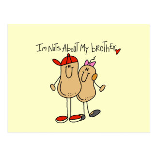 Nuts About My Brother T-shirts and Gifts Postcard