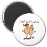 Nuts About My Dad-Girl Fridge Magnets