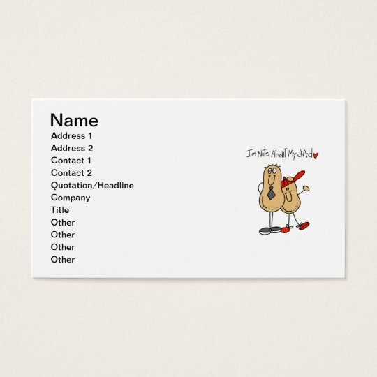 Nuts About My Dad T-shirts and Gifts Business Card