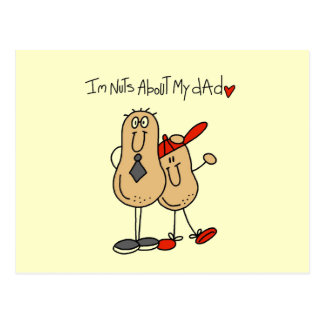 Nuts About My Dad T-shirts and Gifts Postcard