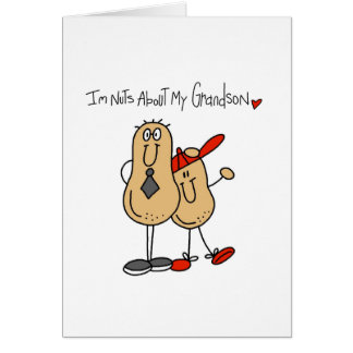 Nuts About My Grandson Greeting Cards