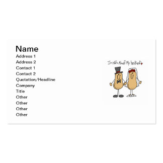 Nuts About My Husband T-shirts and Gifts Business Card