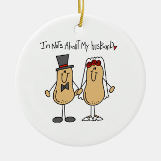 Nuts About My Husband T-shirts and Gifts Ceramic Ornament