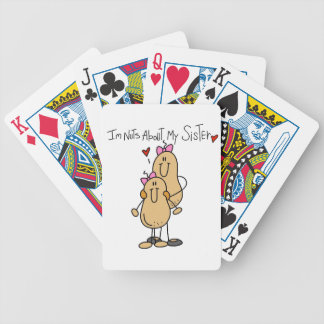 Nuts About My Sister T-shirts and Gifts Bicycle Playing Cards