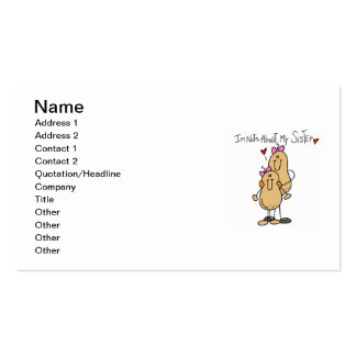 Nuts About My Sister T-shirts and Gifts Business Card Templates