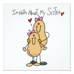 Nuts About My Sister T-shirts and Gifts Invitations
