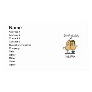 Nuts About My Soldier T-shirts and Gifts Double-Sided Standard Business Cards (Pack Of 100)