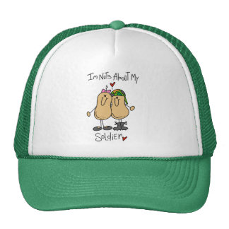Nuts About My Soldier T-shirts and Gifts Mesh Hat