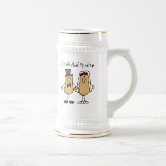 Nuts About My Wife T-shirts and Gifts Beer Stein