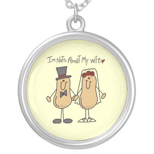 Nuts About My Wife T-shirts and Gifts Jewelry