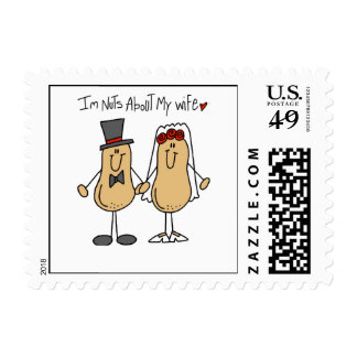 Nuts About My Wife T-shirts and Gifts Postage