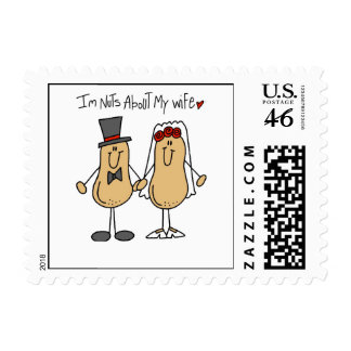 Nuts About My Wife T-shirts and Gifts Stamp
