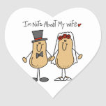 Nuts About My Wife T-shirts and Gifts Heart Sticker