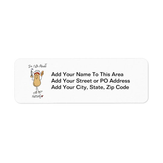 Nuts About Nursing T-shirts and Gifts Label