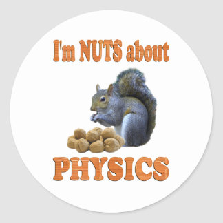 Nuts About Physics Classic Round Sticker