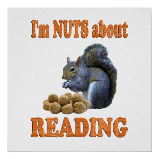 Nuts about Reading Poster