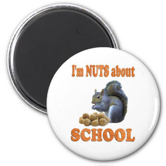 Nuts about School 2 Inch Round Magnet