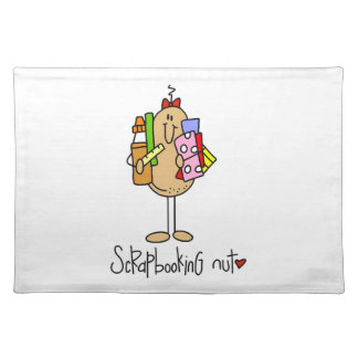 Nuts About Scrapbooking Cloth Place Mat