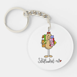 Nuts About Scrapbooking Single-Sided Round Acrylic Keychain