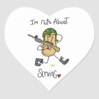 Nuts About Serving T-shirts and Gifts Heart Sticker