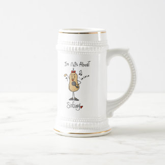 Nuts About Singing T-shirts and Gifts 18 Oz Beer Stein
