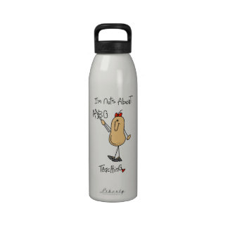Nuts About Teaching T-shirts and Gifts Water Bottle