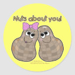Nuts About You! Classic Round Sticker