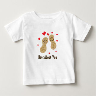 Nuts About You Cute Peanuts Food Pun Humor Unisex Baby T-Shirt