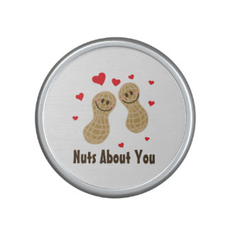 Nuts About You Cute Peanuts Funny Food Pun Humor Bluetooth Speaker