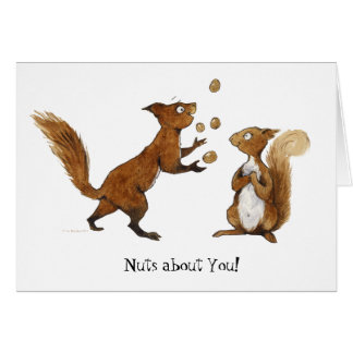 Nuts about You! Greetings Card
