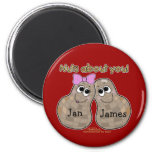 Nuts About You! Refrigerator Magnet