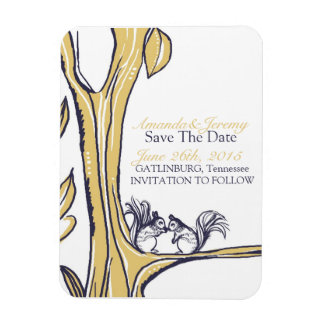 Nuts About You Squirrels Save The Date Magnet