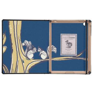 Nuts About You Squirrels Wedding iPad Folio Case