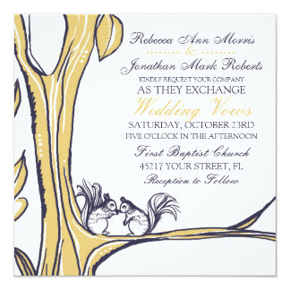 Nuts About You Squirrels Wedding Invitation