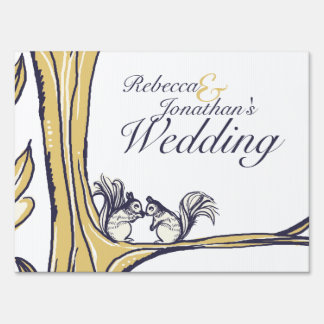 Nuts About You Squirrels Wedding Sign