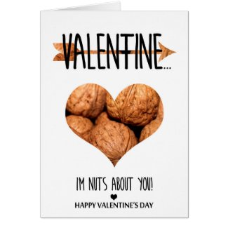 Nuts about you Valentine's Day Card