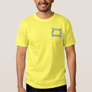 Nuts and Bolts Border Embroidered T-Shirt