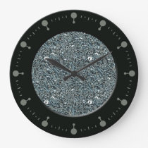 Nuts and Bolts Pattern Wall Clock