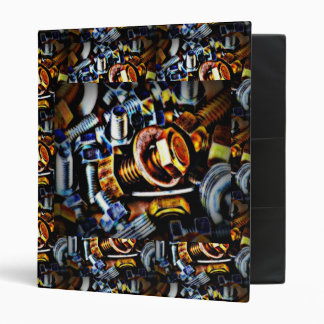 Nuts and Bolts Pop Art Binder