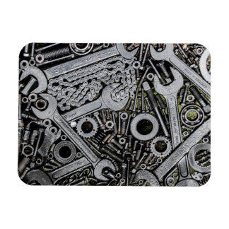 Nuts and Bolts Rectangular Photo Magnet