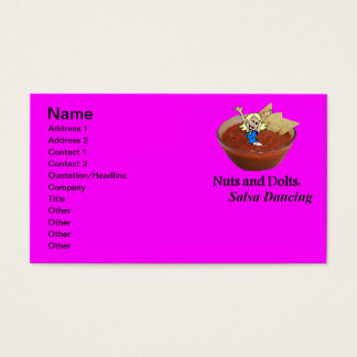 Nuts and Dolts: Salsa Dancing Business Card