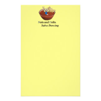 Nuts and Dolts: Salsa Dancing Stationery