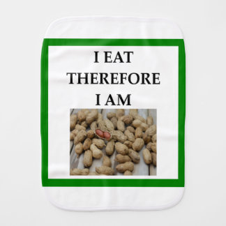 nuts burp cloth