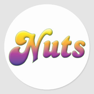 Nuts Classic Round Sticker