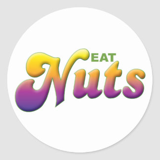 Nuts Eat Classic Round Sticker
