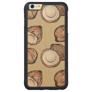 Nuts for Coconut Pattern Carved® Maple iPhone 6 Plus Bumper