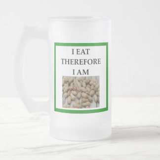 nuts frosted glass beer mug