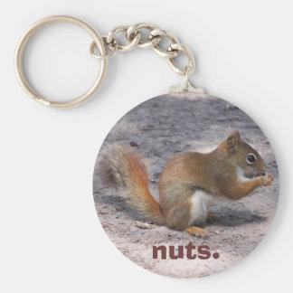 nuts. keychain