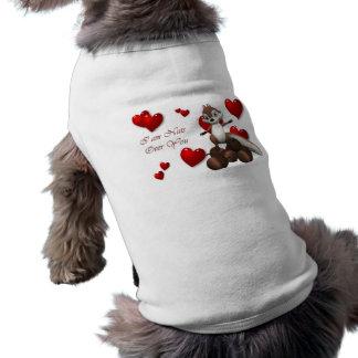 Nuts over you pet shirt